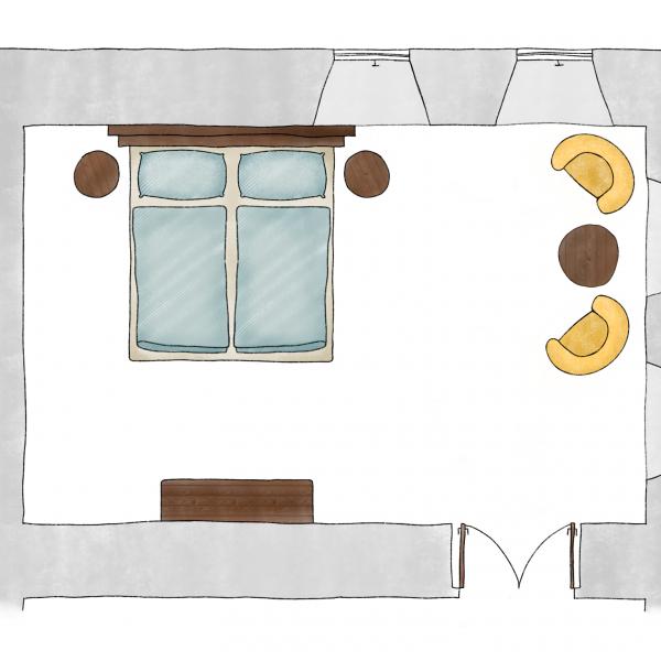 Pokoj V přízemí (2 os.)